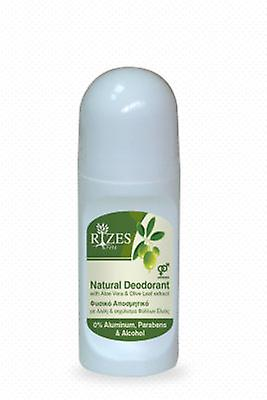 Natural Deodorant with Aloe Vera and Olive Leaf extract.