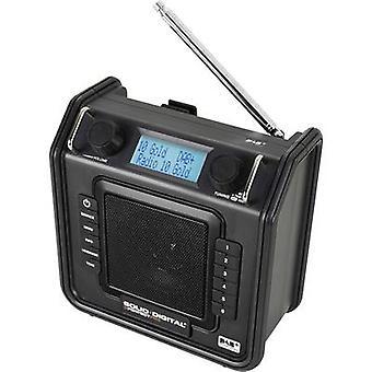 PerfectPro Soliddigital Radio WORKPLACE DAB+, FM AUX odporna na zachlapanie, pyłoszczelna, odporna na wstrząsy czerń