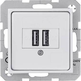 Sygonix Insert USB port SX.11 White (glossy) 33598A