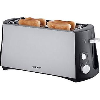 Cloer Toaster 3710 Twin long slot toaster with built-in home baking attachment Black, Silver