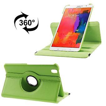 Ceniza de PU cubierta de la bandeja (flip Cruz) para el Samsung Galaxy tab Pro 8.4 / T320 verde