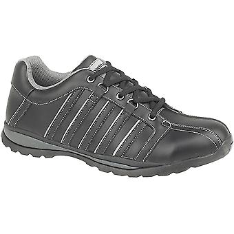 Amblers Safety Mens FS50 Leather Safety Trainers Black