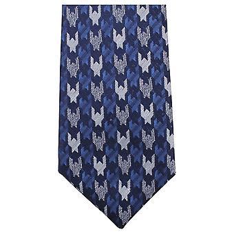 Knightsbridge Neckwear Patterned Tie - Blue/Navy/Silver