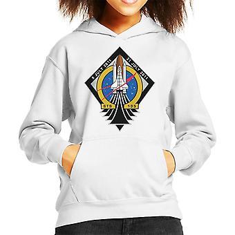 NASA STS 135 Raumfähre Atlantis Mission Patch Kid das Sweatshirt mit Kapuze