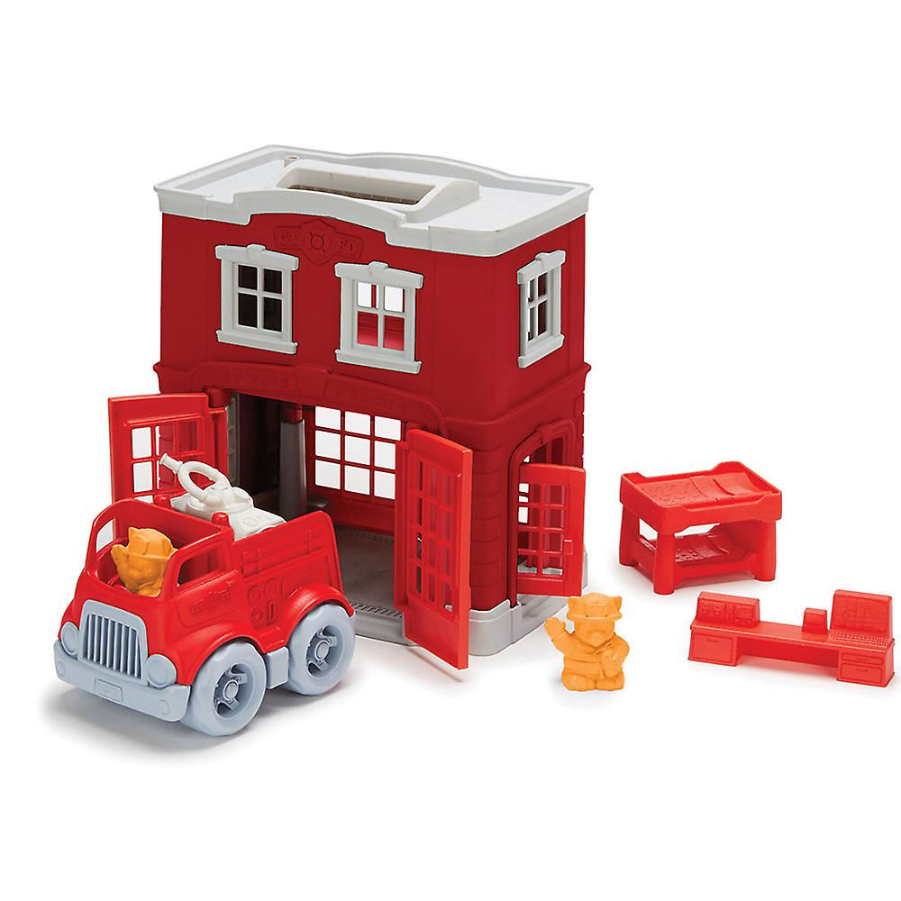 Green Toys Fire Station Emergency Play Set 100% Recycled BPA Free
