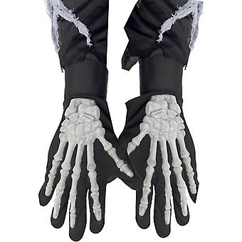 Smiffy's Skeleton Gloves Adult