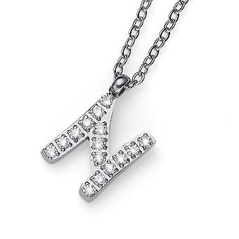 Oliver Weber Pendant Initial N Steel CZ Crystal