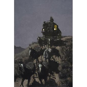 The Old Stage-Coach of the Plains, Frederic Remington, 60x40cm