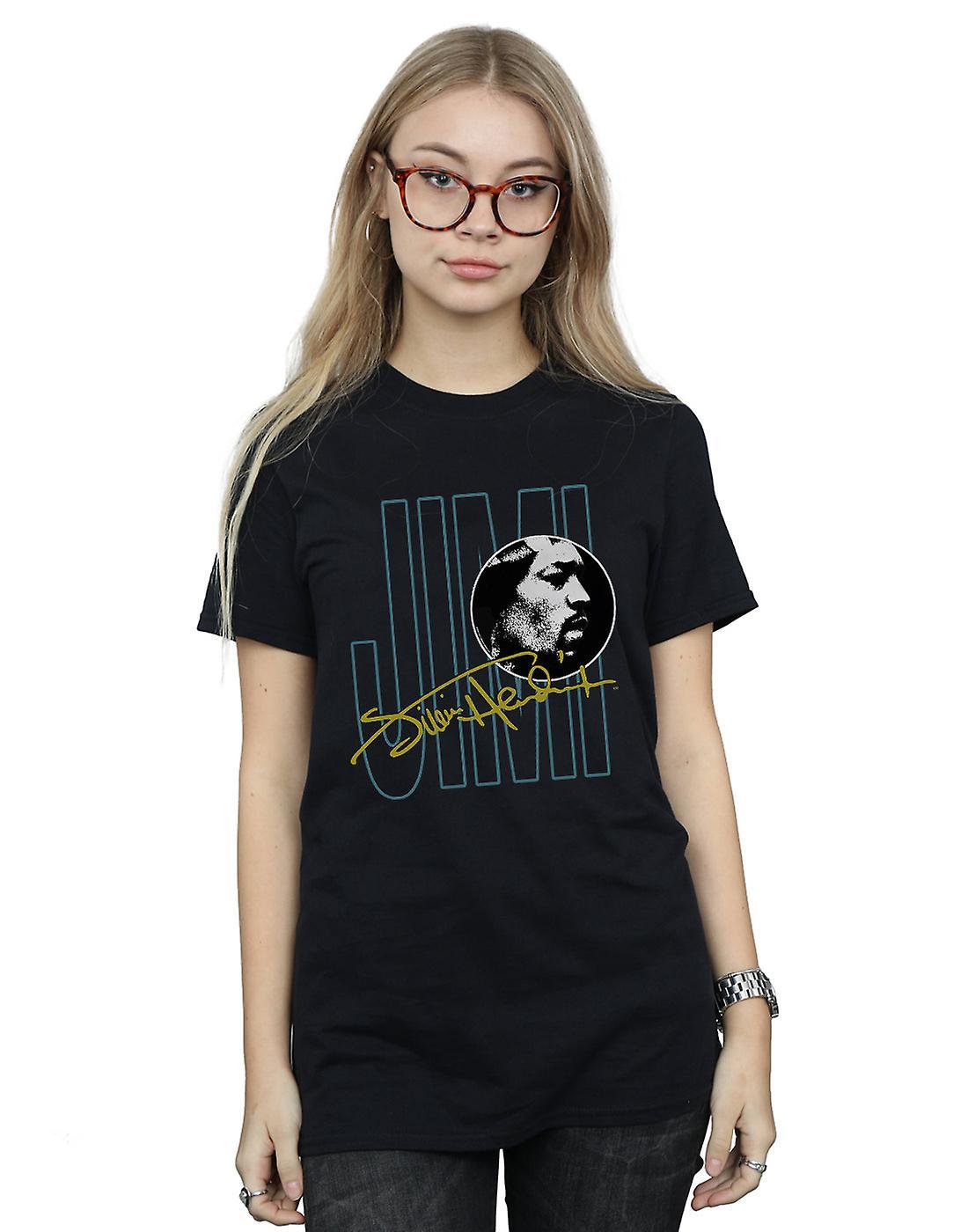 Jimi Hendrix Women's Jimi Signature Boyfriend Fit T-Shirt