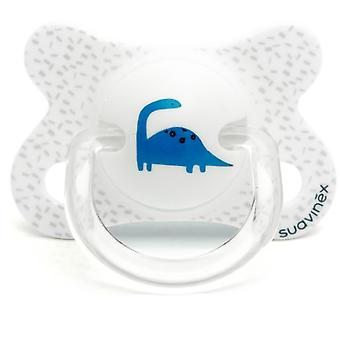 Suavinex Dino Latex Anatomical Pacifier White 2 to 4 Months
