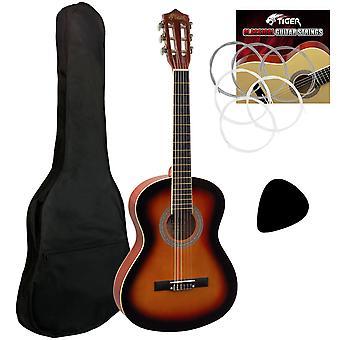 Tigre 3/4 guitarra clásica en Sunburst