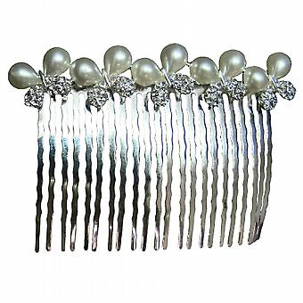Подарок идея волосы аксессуар бабочка лук жемчуг горный хрусталь расческа волос