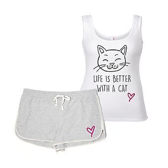حياة القط أفضل مع مجموعة بيجاما القط