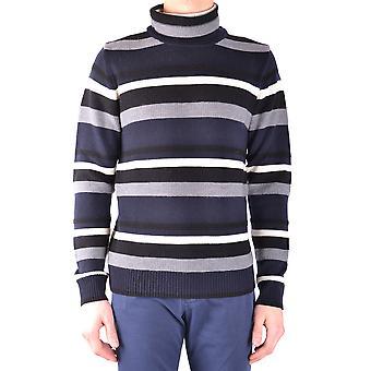 Paolo Pecora Ezbc059021 Men's Blue Wool Sweater
