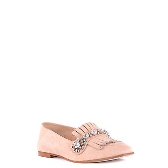 Ninalilou Ezbc115013 Women's Pink Suede Loafers