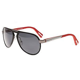 Breed Octans Titanium Polarized Sunglasses - Black/Black