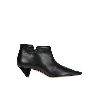 Céline Black Leather Ankle Boots