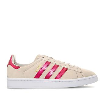 Womens Adidas Originals campus trænere i Clear Brown-lace up lukning