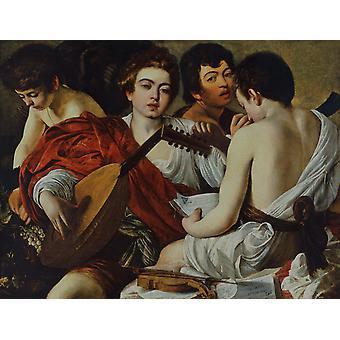 The Musicians, Caravaggio, 50x38cm