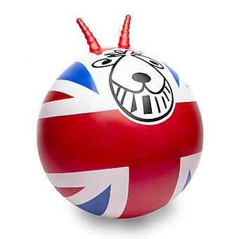 Union Jack retro Spacehopper met voetpomp