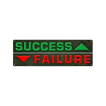 Grindstore Success Vs Failure Slim Tin Sign
