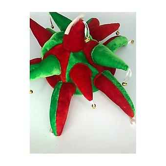 Union Jack slitasje røde & grønne spøkefugl lue