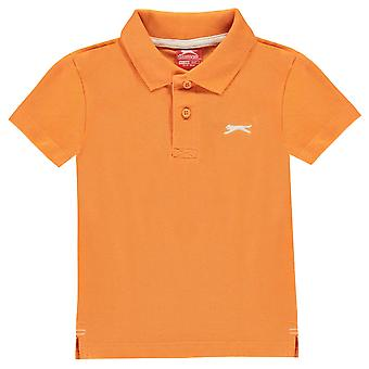 Slazenger børn almindelig Polo Shirt T Shirt Tee Top Casual spædbarn drenge kort ærme