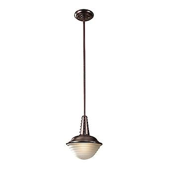 Murray Feiss P1270PCBZ Urban Renewal One Light Mini Round Pendant, Plated Bronze