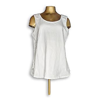 Women with Control Essentials Women's Top Shirttail Hem Tank White A306465