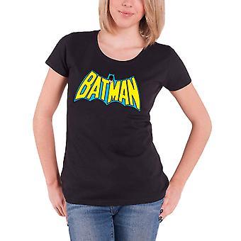 Batman T Shirt Batman Retro Logo Official DC Comics Womens Skinny Fit Black
