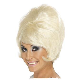 Γυναικών 60s κυψέλη περούκα ξανθιά φανταχτερό φόρεμα αξεσουάρ