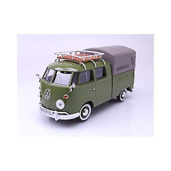 MotorMax Motormax Volkswagen VW Type 2 (T1) Double Cab Canvas Pick Up  1:24