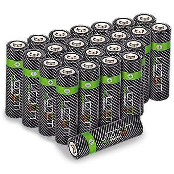 Venom power recharge - 2100mah high capacity rechargeable aa batteries (pack of 24)