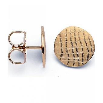 bastian inverun - 925/- silver studs gold plated, matted/ brushed - 24310