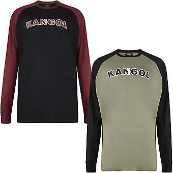 Kangol Mens Rufio große große King Size Long Sleeve Rundhals T-Shirt T-Shirt Top