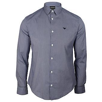 Emporio armani men's Gingham blau und weiß Hemd