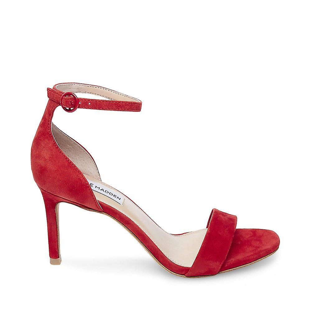 Steve Madden Womens Fame mocka öppen tå kväll sandaler röd 7 medium (B, M)
