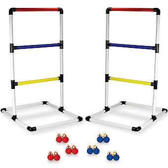 Ladder Ball Game Set with Carrying Case & Ground Anchors