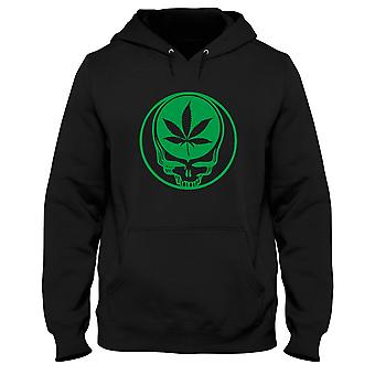 Black man hoodie fun1641 greatful dead weed peace