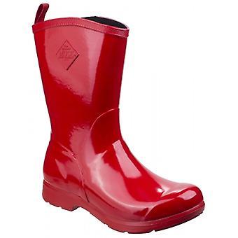 Muck Boots Bergen Mid Ladies Rubber Wellington Boots Red