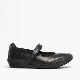 Hush Puppies Amelia Junior meisjes lederen Mary Jane school schoenen zwart