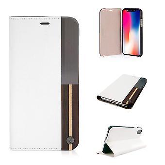 iPhone X القضية 50:50 الرماد الأبيض فوليو قذيفة الثابت