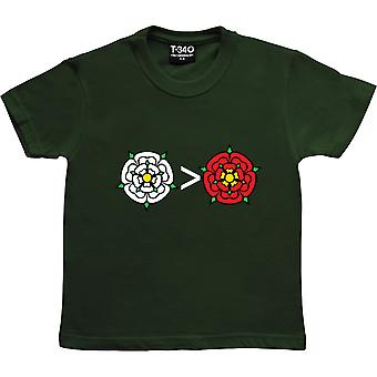 Yorkshire es mayor que Lancashire Racing Green Kids' Camiseta
