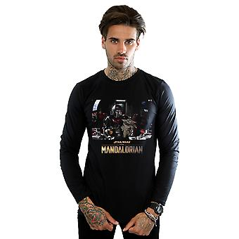 Star Wars Men's The Mandalorian Child On Board Long Sleeved T-Shirt