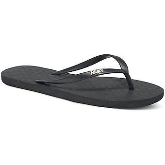 Roxy Viva IV Flip Flops in Black