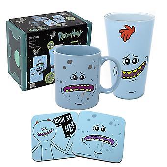 Rick y Morty Gift Box Meeseeks 2018 azul, impreso, 4 piezas, en caja de regalo.