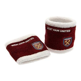 West Ham FC Official Football Sweatbands (Set of 2)