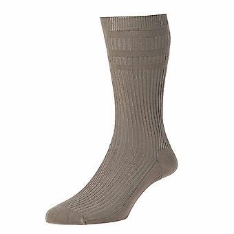 HJ HJ91 El algodón original Softop calcetín no elástico Calcetines de Hombre Negro 11 a 13 - Pack 6