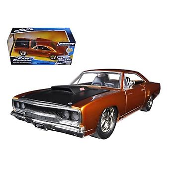 Dom\'S 1970 Plymouth Road Runner Copper \Fast & Furious 7\ Movie 1/24 Diecast Model Car By Jada