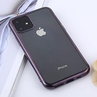 For iPhone 11 Case, Clear Protective Back Cover, Purple